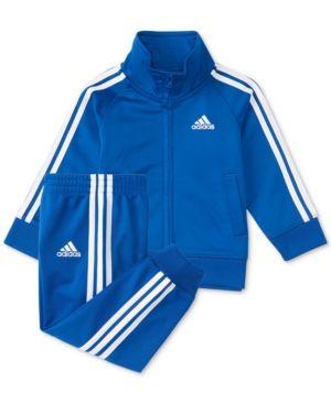 9a77bfcb6 adidas 2-Pc. Iconic Tricot Jacket & Pants Set, Little Boys - Blue 5 ...