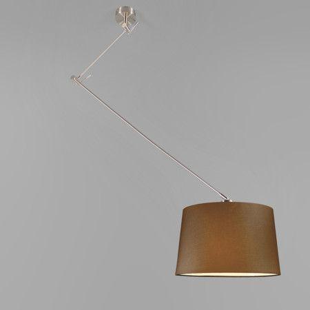 Pendelleuchte Blitz stahl mit Schrim 40cm braun #Lampe #Light #einrichten #Innenbeleuchtung #wohnen #Leuchte #Herbst