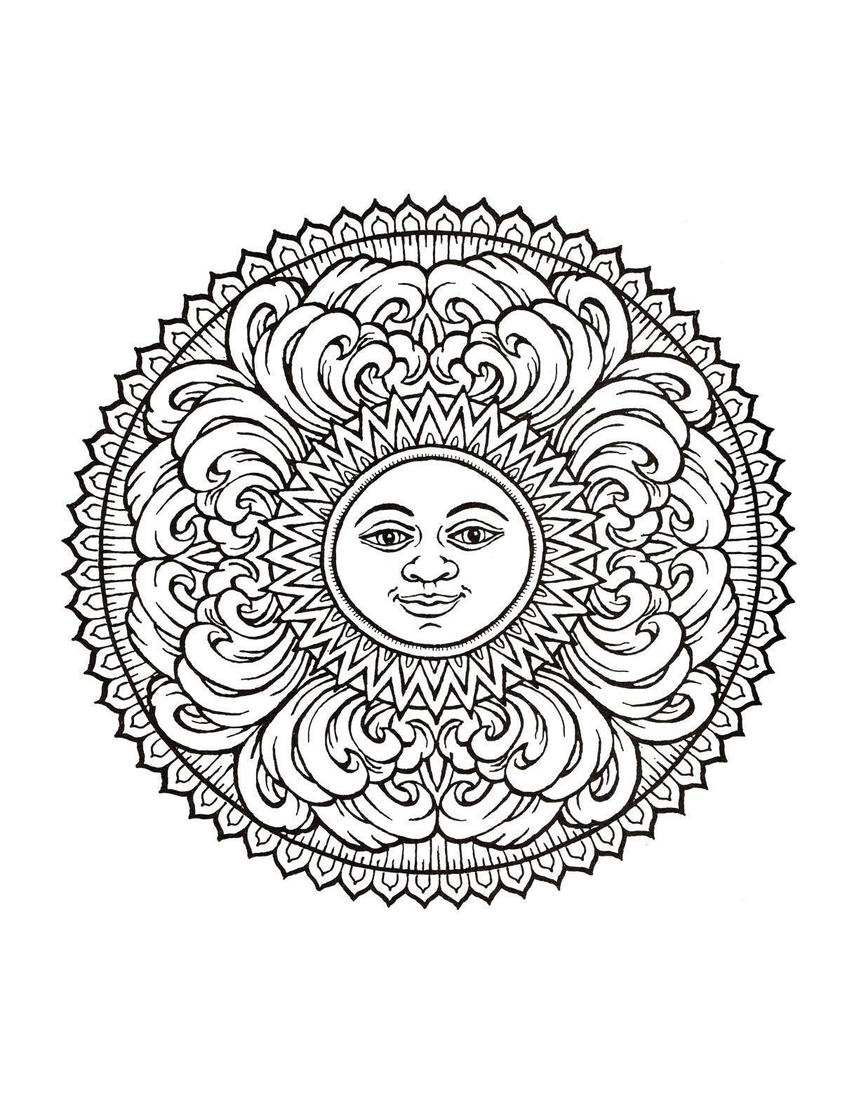 Mandala 341 Mystical Coloring Book Dover Publicationsvector