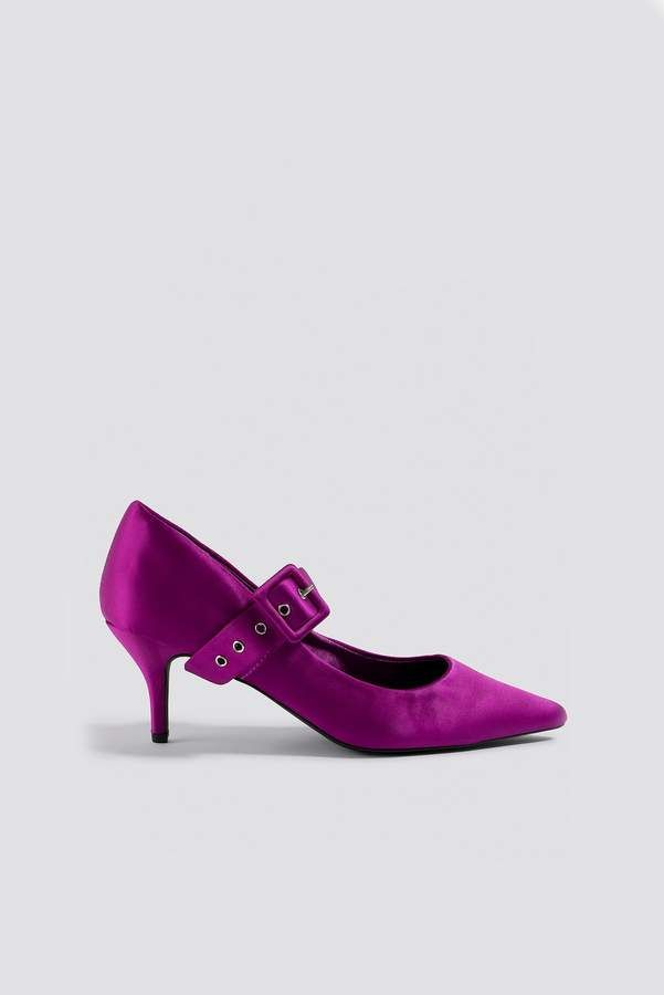 eee8c29f13d13 Satin Buckle Pumps in 2019 | Products | Kd shoes, Pump shoes, Pumps