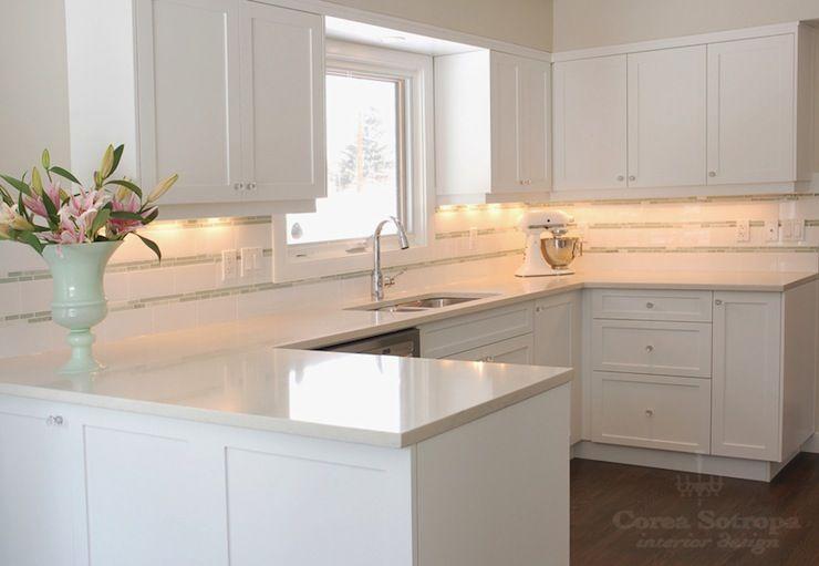 Corea sotropa interior design kitchens crisp white for White shaker kitchen designs