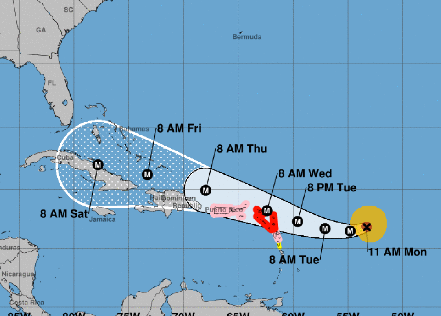 Irma Intensifies To An Extremely Dangerous Category 5 Hurricane On Its Track Toward The U S National Hurricane Center Atlantic Hurricane Storm Center