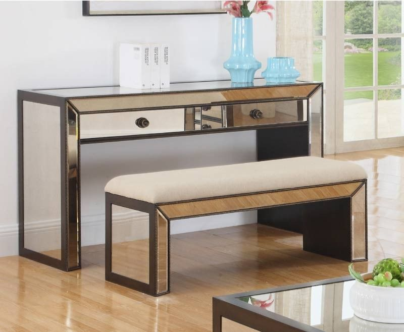 Mariano Furniture T1805 Console Table And Bench Set Bmt1805 Set Table And Bench Set Furniture Table