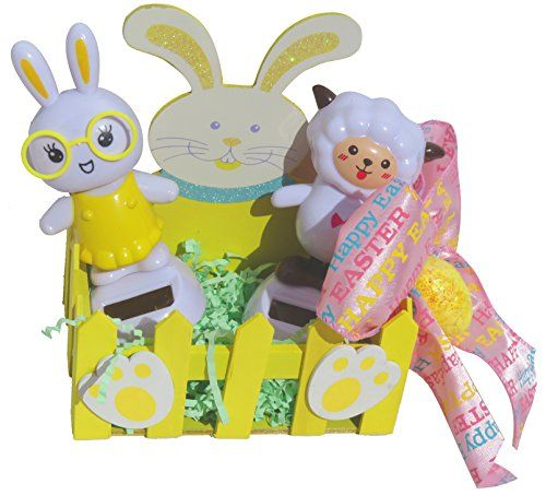 Solar powered dancing easter bunny geek nerd and lamb easter basket solar powered dancing easter bunny geek nerd and lamb easter basket gift set yellow combined brands negle Image collections