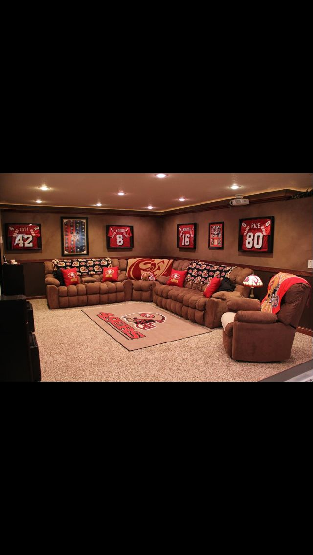Pin By Vinny Maco Cirig On Im A Fan Man Cave Theme Ideas Man Cave Home Bar Sports Man Cave
