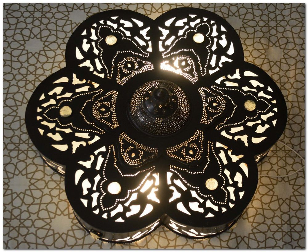 Moroccan black oxidize 20 flush mount ceiling lamp light fixture brass moroccan flush mount fixtures ebay moroccan ceiling lightmoroccan arubaitofo Choice Image