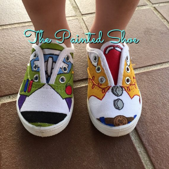 6c41e0db65d6c Painted Shoes - Disney Painted Shoes - Toy Story Painted Shoes ...