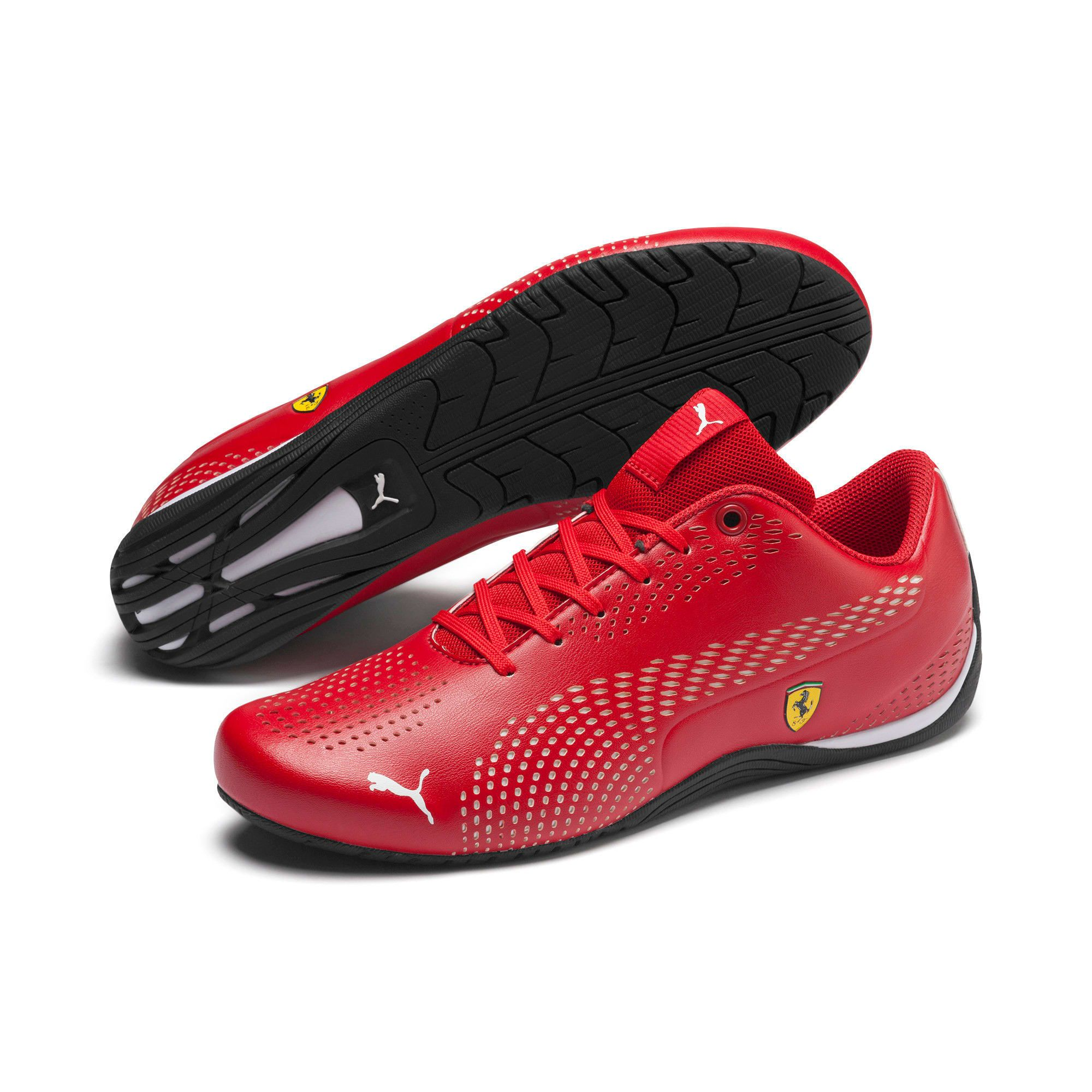 PUMA Ferrari Drift Cat 5 Ultra II Trainers, Red, size 9.5, Clothing