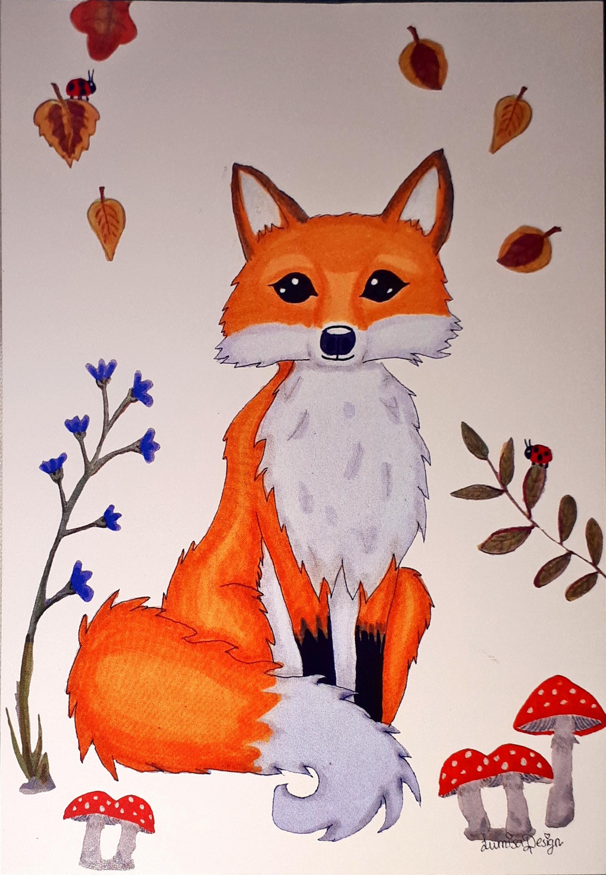 подарок лисичке в картинках