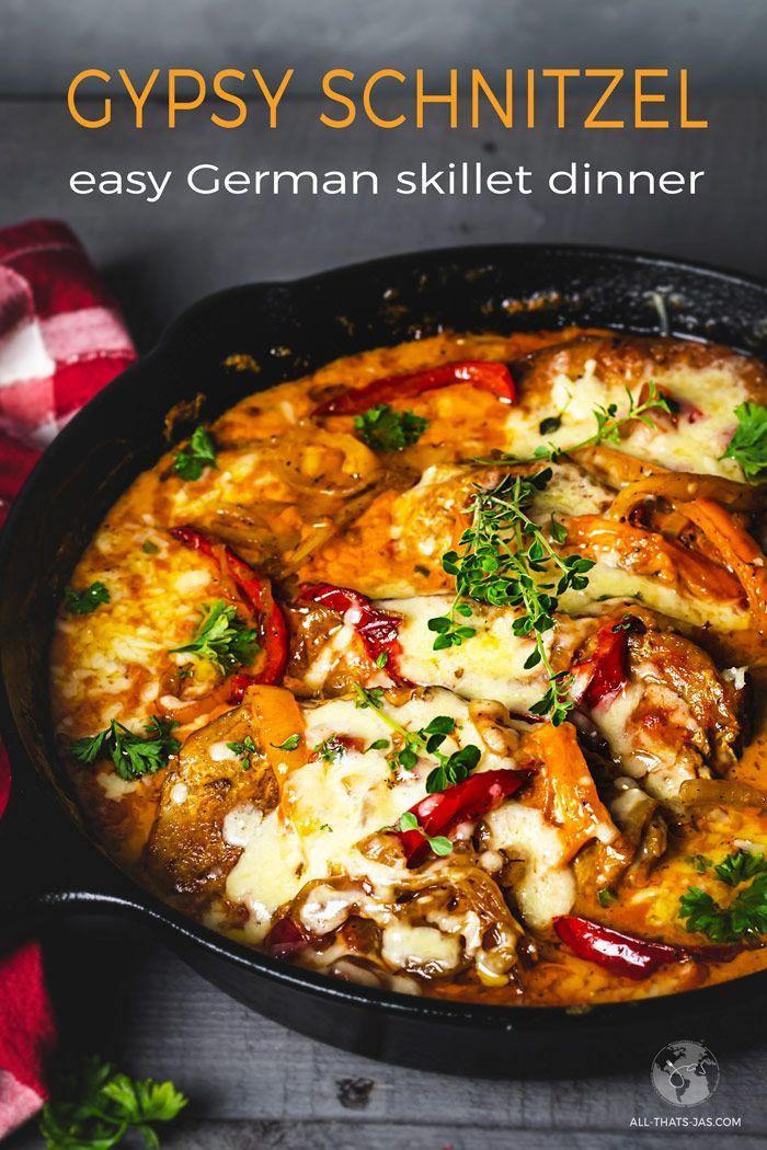 Skillet Gypsy Schnitzel Dinner
