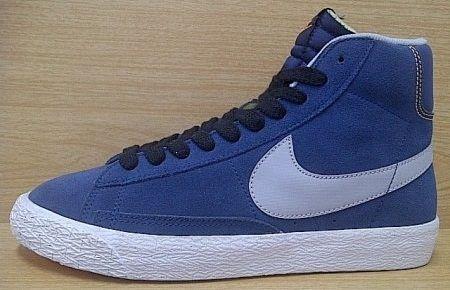 Kode Sepatu Nike Blazer Hi Vintage Navy Grey Ukuran Sepatu