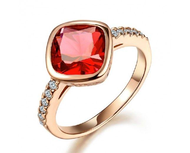 New Fashion Austria Ruby Zirconium Women's Fashion Ring - USD $38.95