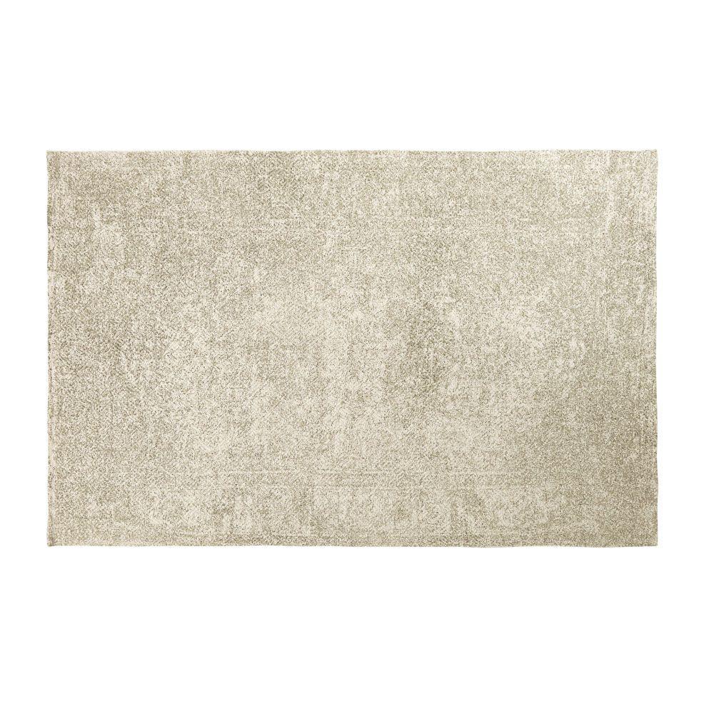 Linge Deco Tapis Coton Coton Vert Et Tapis