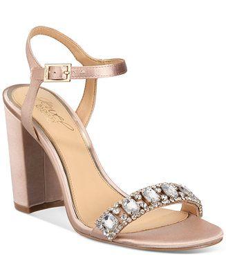 947d2b334 JEWEL By Badgley Mischka Hendricks Block-Heel Evening Sandals - Dressy  Sandals - SLP - Macy s