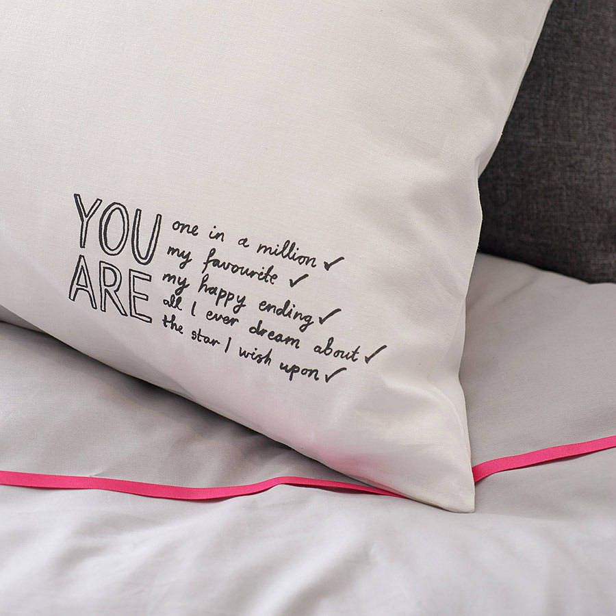 \u0027you are all i ever dream about\u0027 pillowcase by karin Åkesson | notonthehighstreet & Diy Pillowcase For Boyfriend \u0026 DIY Your Christmas Gifts This Year ... pillowsntoast.com