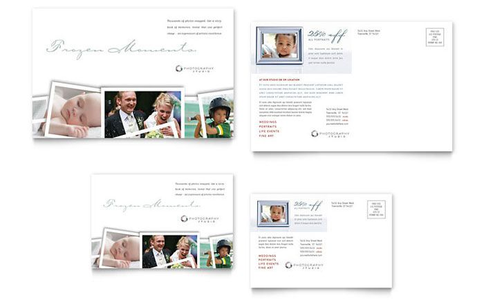 Photographer Postcard Design Template By Stocklayouts  Ideas For