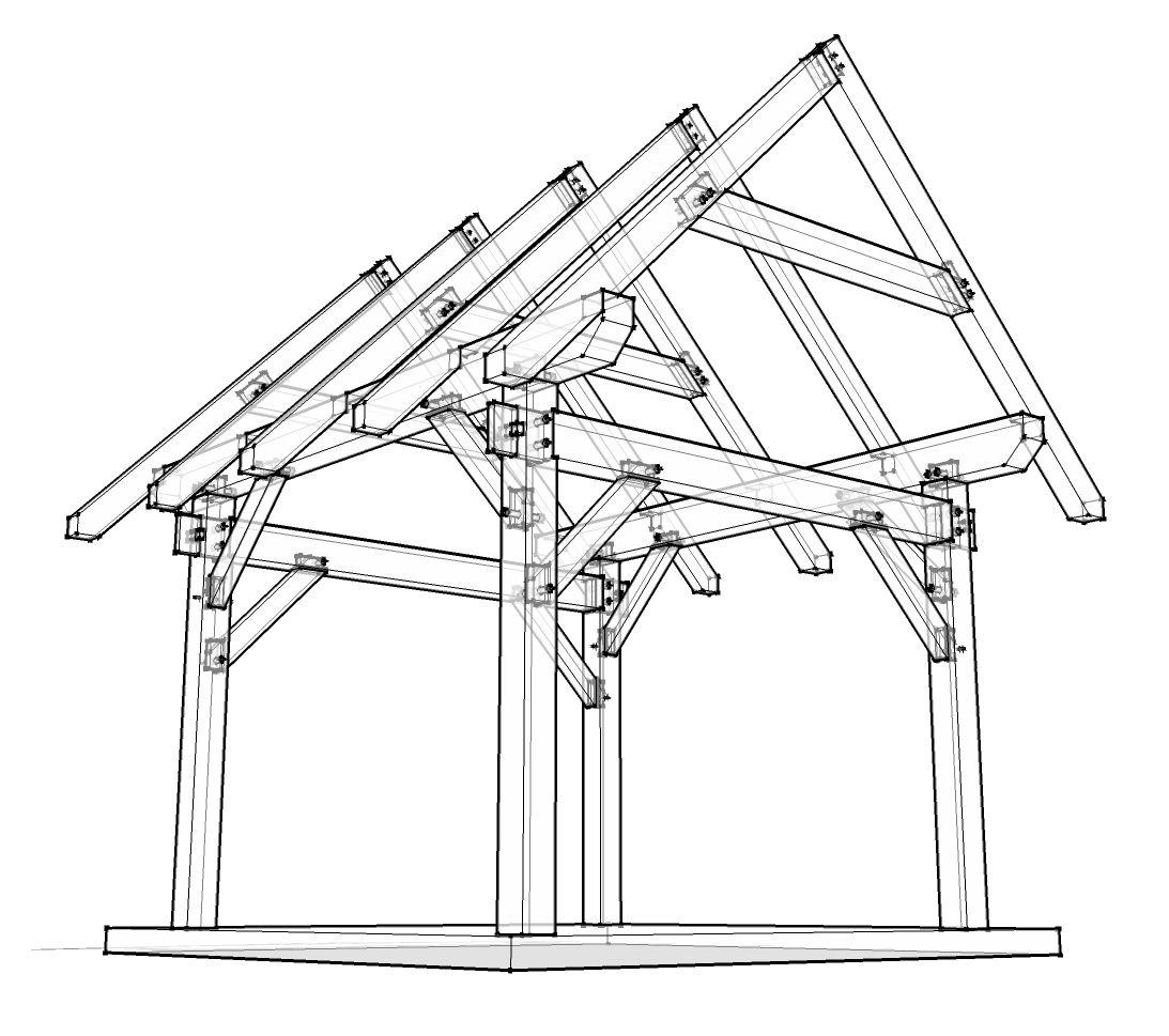 12x12 Timber Frame Plan Woodworking