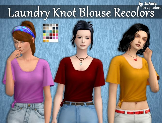 SP13 Knot Blouse Recolors at Tukete • Sims 4 Updates