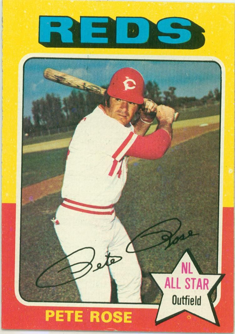 Pete's 1975 Topp's AllStar card... Baseball cards, Pete
