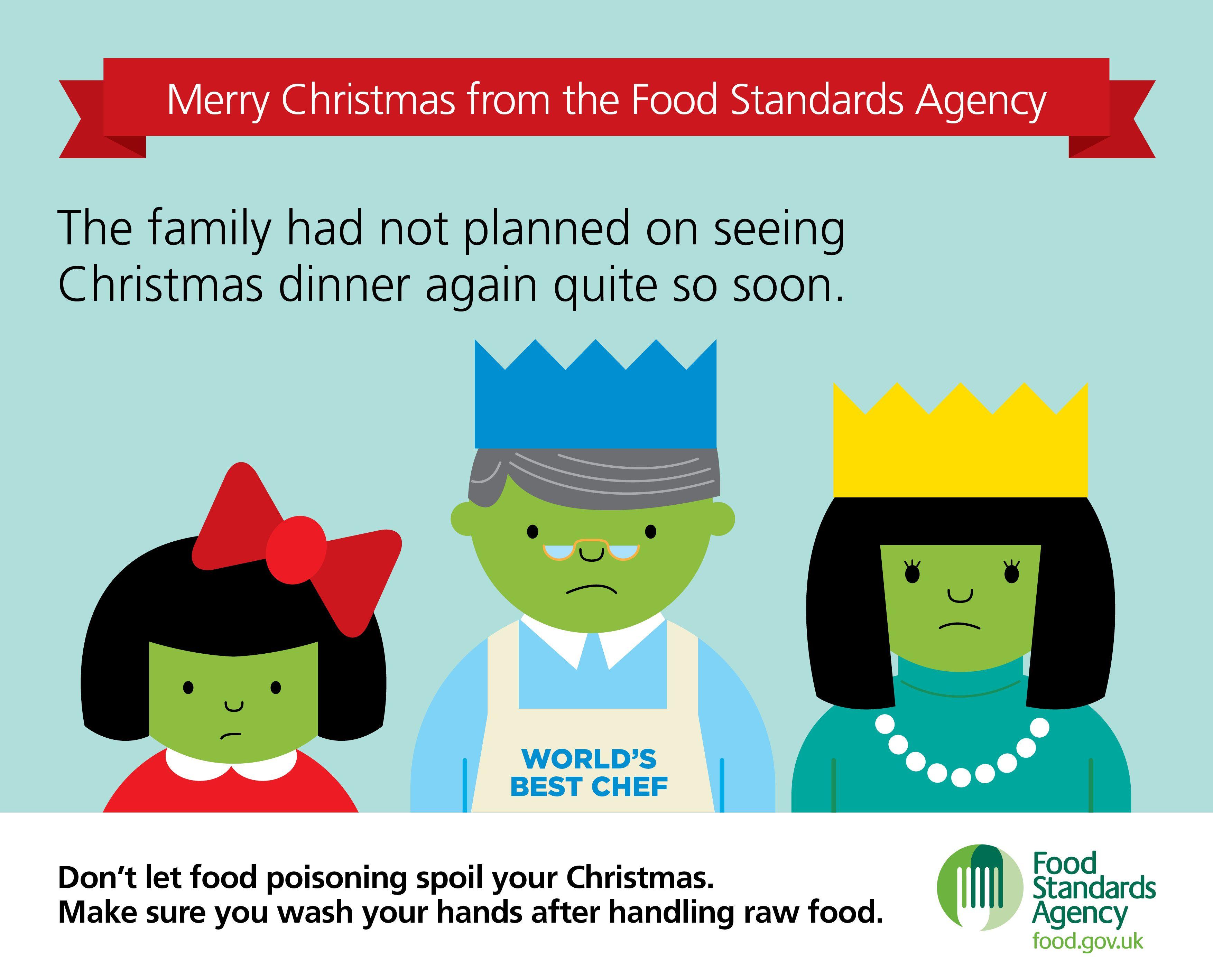 Food Standards Agency Christmas Card Christmas 2013 Food Standards Agency Food Safety Tips Raw Food Recipes