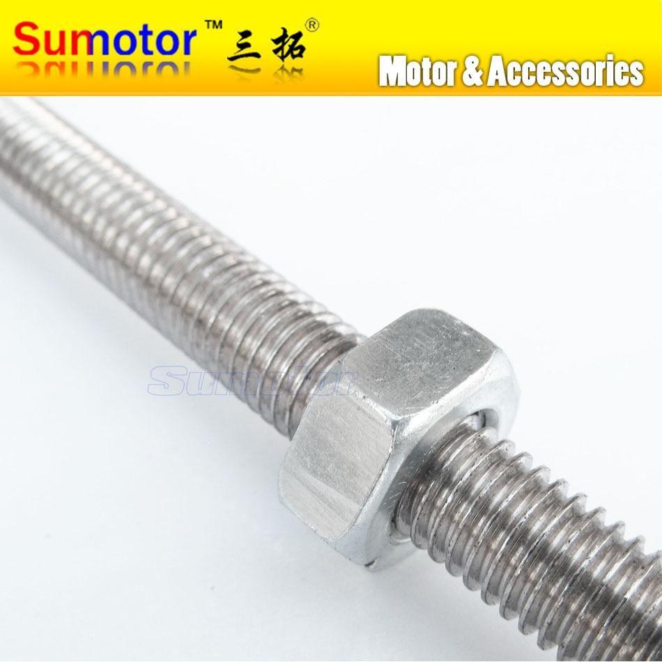 M10x320 10 320 Stainless Steel All Thread Threaded Rod Bar Studs Machine Screw Fastener Trasmission Double Headed Bolt Hex Nuts Machine Screws Threaded Rods Bar Studs