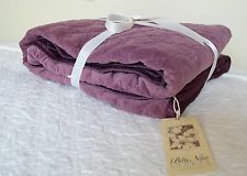 NWT Bella Notte Linens Plum Velvet Quilted Large Throw Blanket