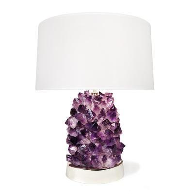 Veronica Amethyst Lamp From Matthew Studios Purple Table Lamp Purple Lamp Lamp