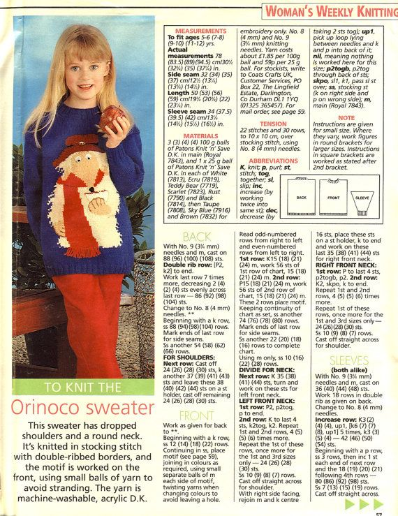 Alan Dart WOMBLES Sweater Knitting Pattern by PatternaliaVintage ...