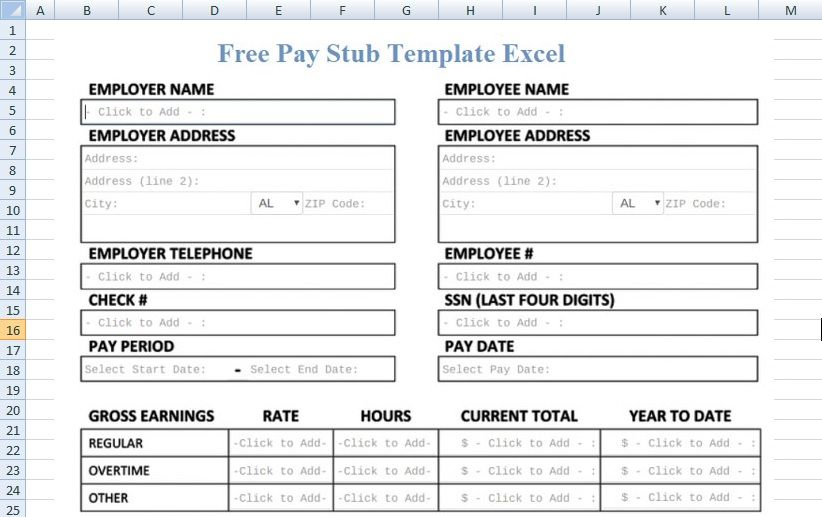 Download Free Pay Stub Template Excel Pdf Spreadsheettemple Project Management Templates Excel Templates