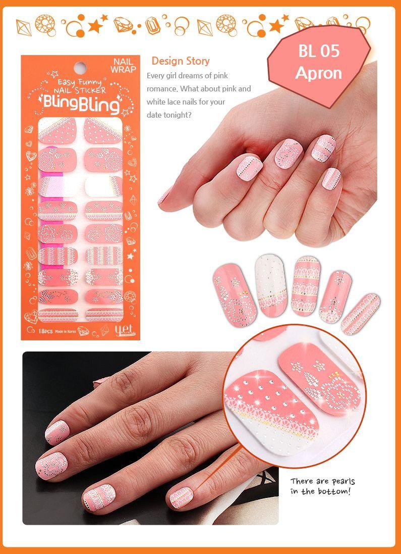 $7 #nails #nailart #nailsticker #nailwrap #diy #Y.E.T