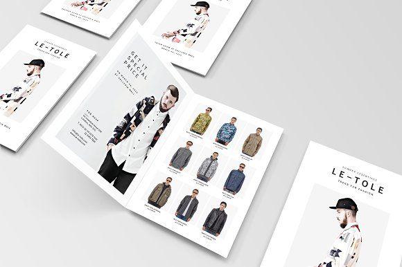 Bifold Fashion Brochure by BOXKAYU on @creativemarket Brochure