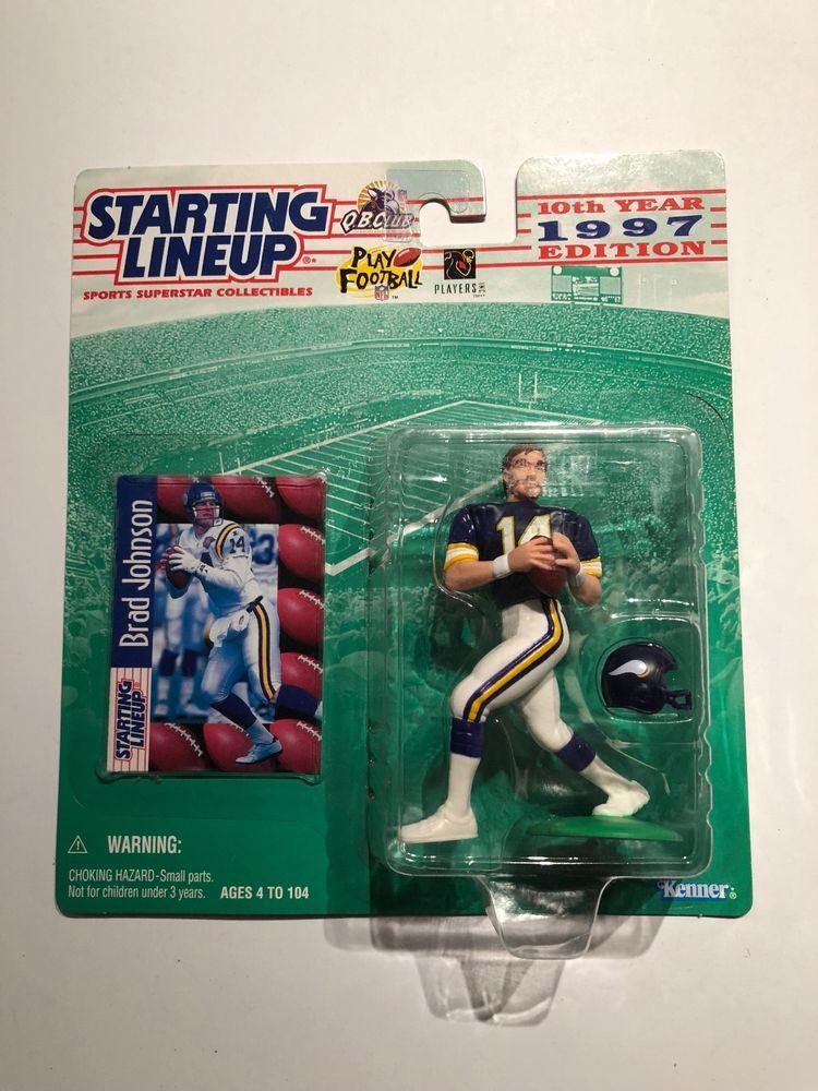 1997  BRAD JOHNSON Minnesota Vikings Starting Lineup Card