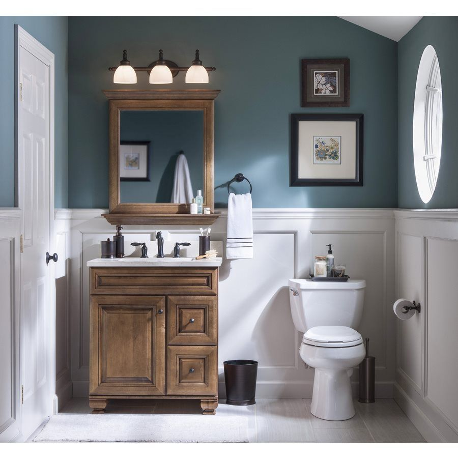 Allen Roth 20j Vsdb30 Ballantyne 30 In X 21 In Mocha With Ebony Glaze Traditional Bathroom