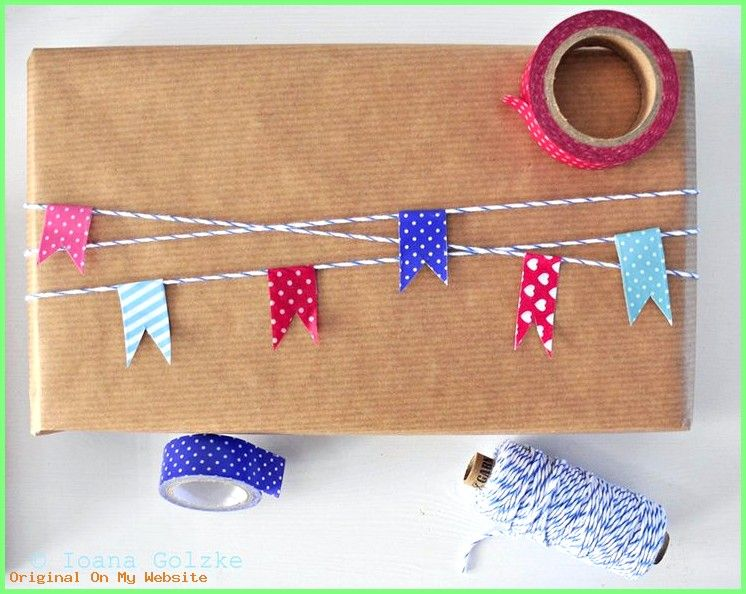 Geschenke Verpacken - Original and nice gift wrapping ideas with paper, bakers twine and wash... #emballagecadeauoriginal