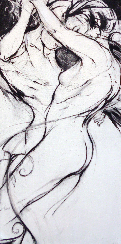 tableau : COUPLE FUSAIN par JERRY LEMON - Portraits / Nus en Portraits / Nudes - DL40615CO104