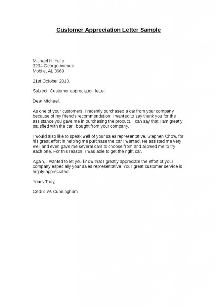 Appreciation Letter Sample Appreciation Letter Sample Pinterest