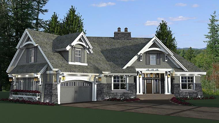 House plan 42679 bungalow cottage craftsman french for French country tudor house plans