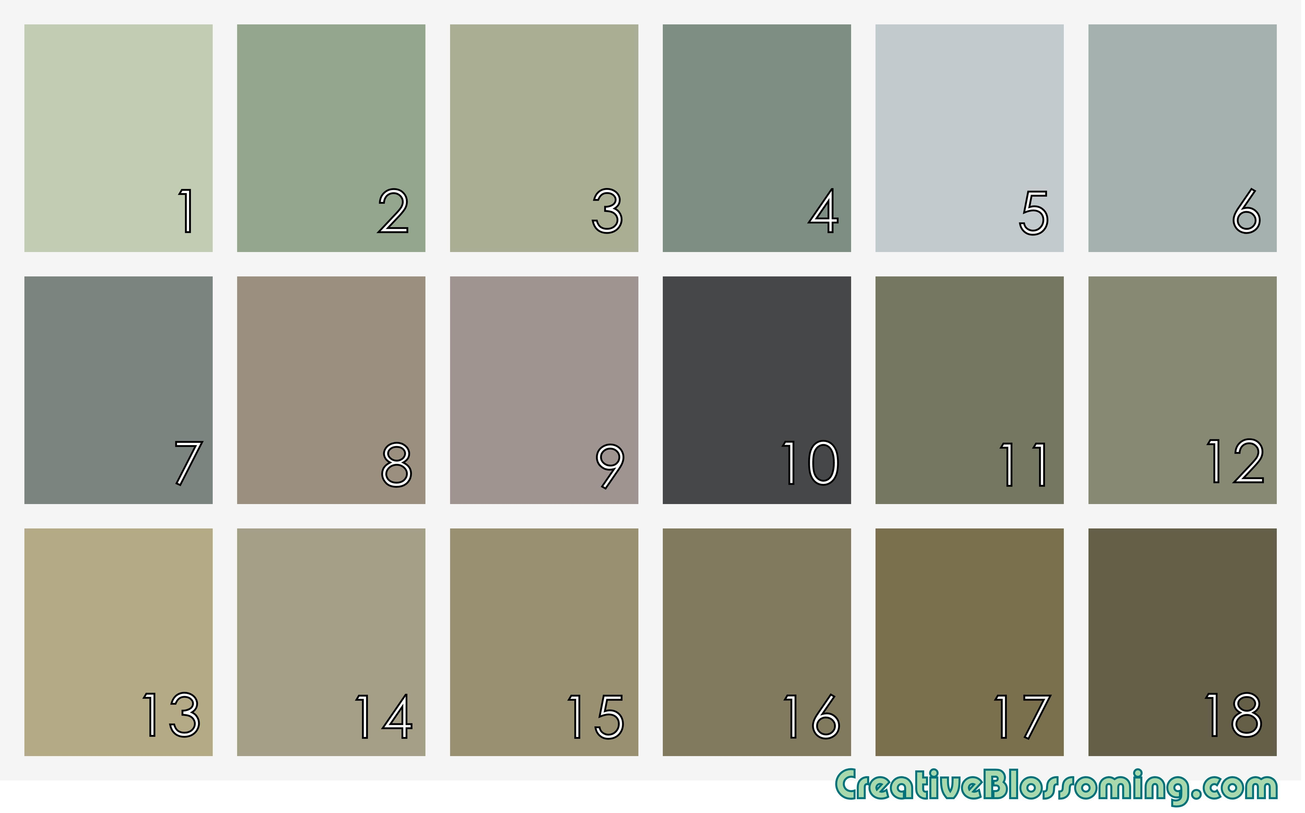 Tan Latte Blue Slate Gray Decor Blue Green Purple Lavender Taupe Gray Brown Sage Olive