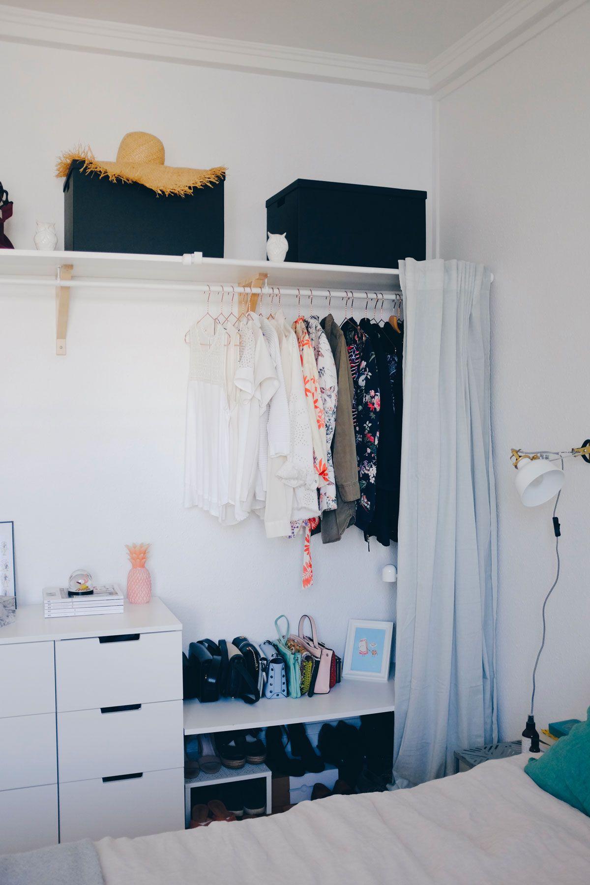 Creating Extra Bedroom Storage Space With This Open Wardrobe Diy The Gem Picker Diy Wardrobe Bedroom Diy Open Wardrobe