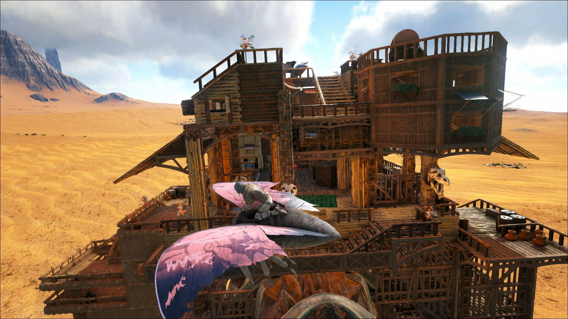 Ark, Titan Platform, Nomadic Base Design, The Desert Trader. Massive  Platform Base