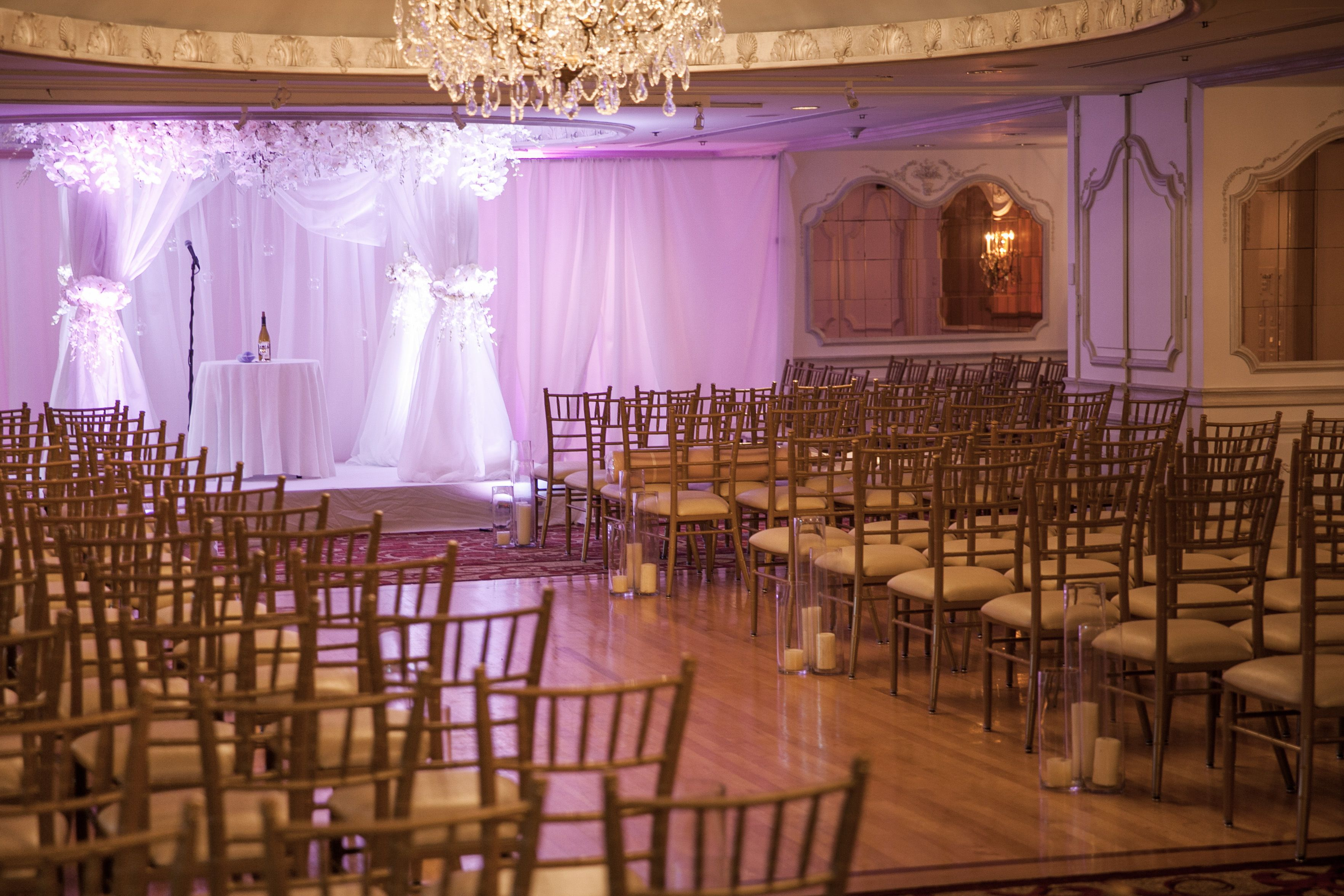 Wedding Ceremony In The Cotillion At The Garden City Hotel With