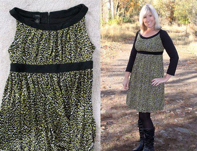 Para este invierno, renueva tus vestidos y ponles mangas #proyectos #recicla #vestido