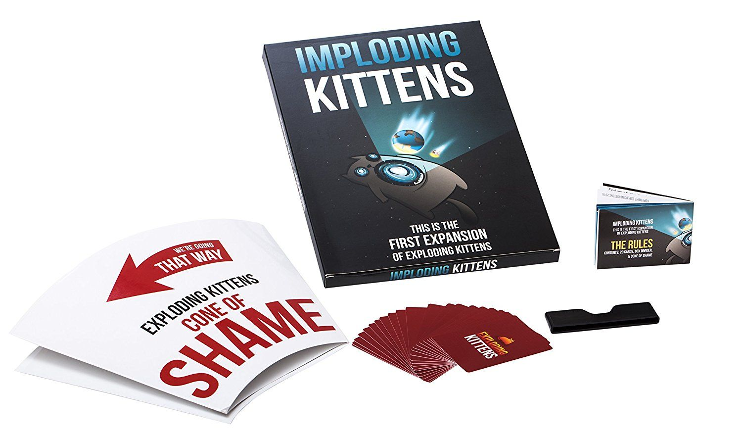 Cat Toys Interactive Imploding Kittens This Is The First Expansion Of Exploding Kittens You Can Exploding Kittens Card Game Exploding Kittens Card Games