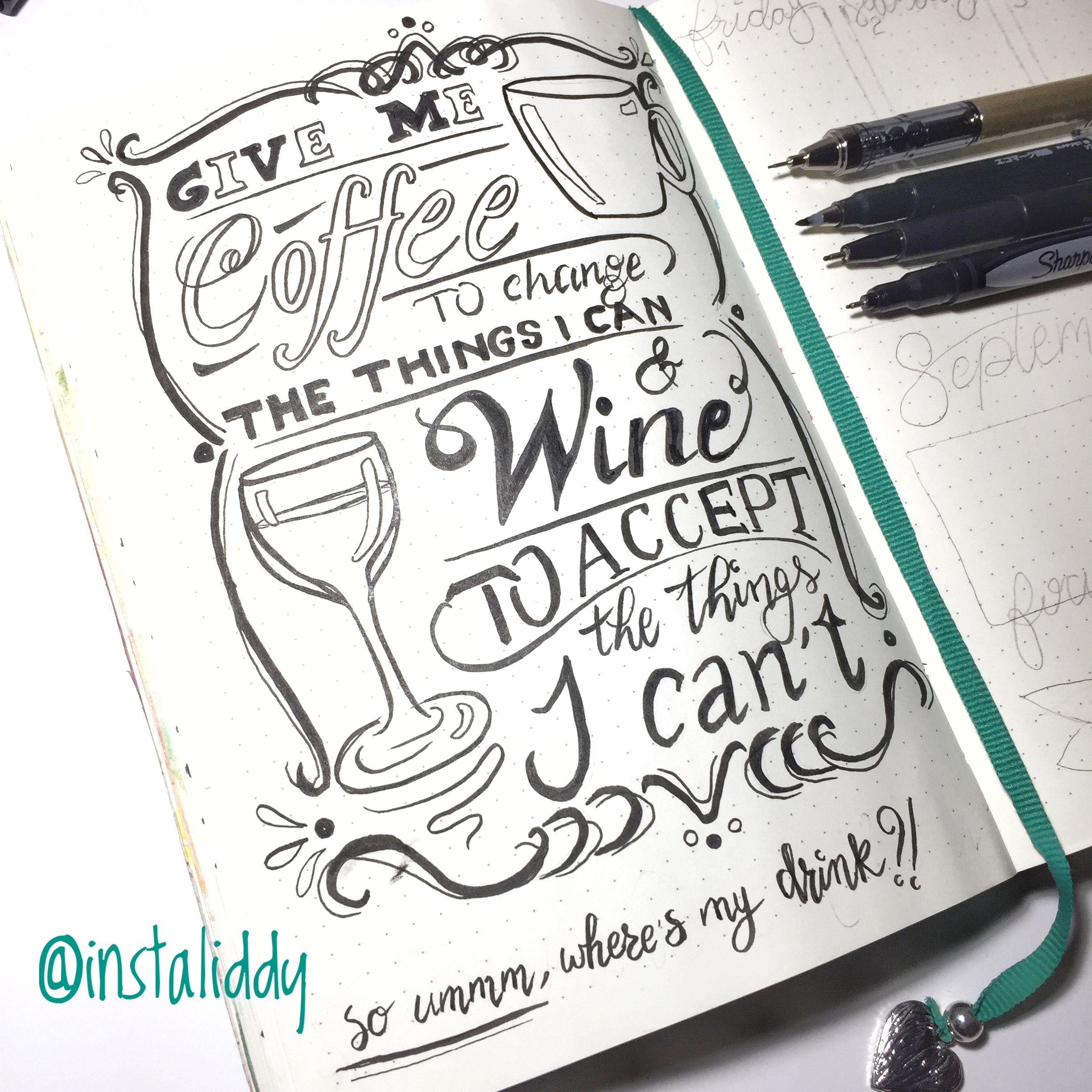 Funny Serenity Prayer Quote With Coffee And Wine