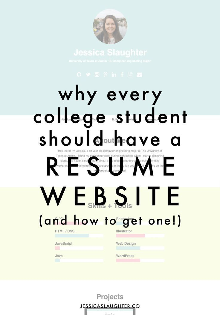 Why Every College Student Should Have A Resume Website College - College Resume Tips