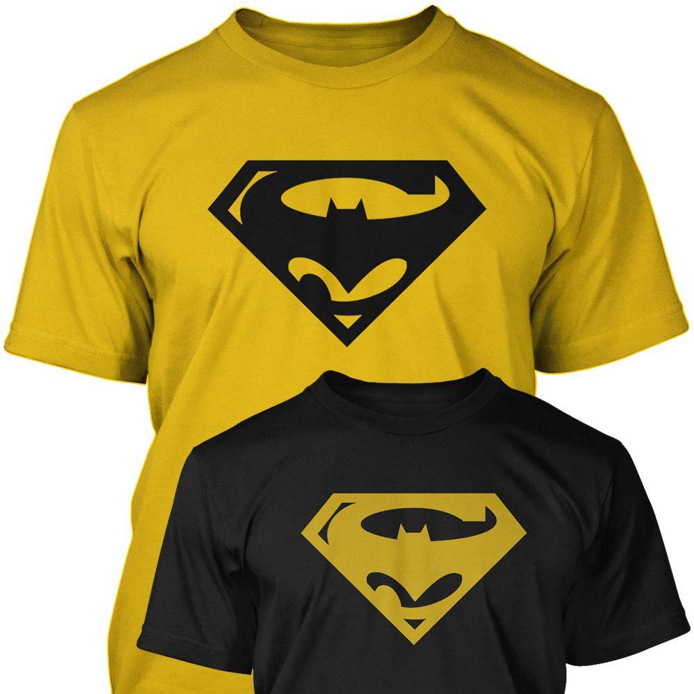 Superbat batman superman combined logo mens unisex t shirt awesome logo mash up batman superman combined logo biocorpaavc Choice Image