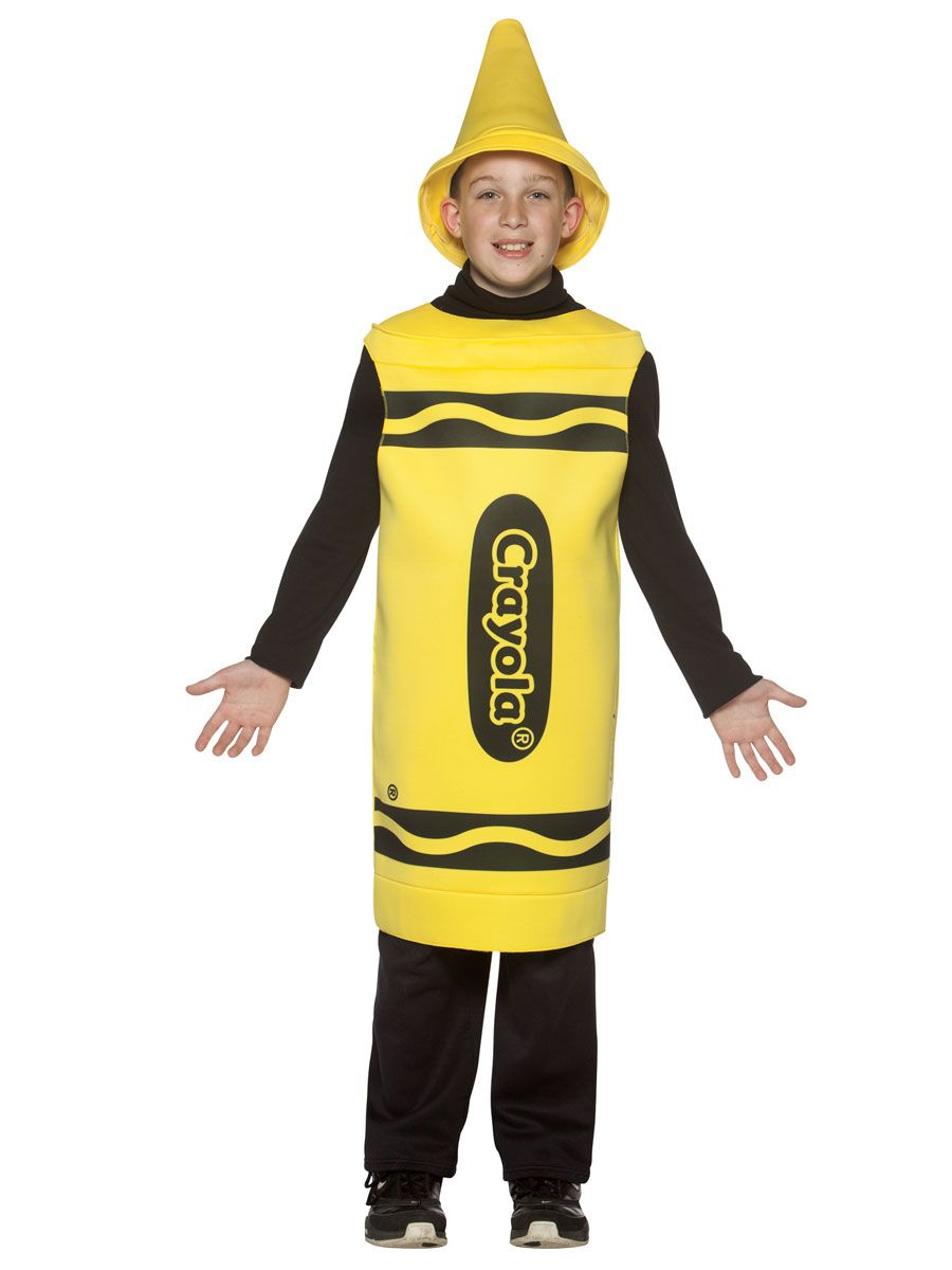 Child Crayola Crayon Yellow Costume