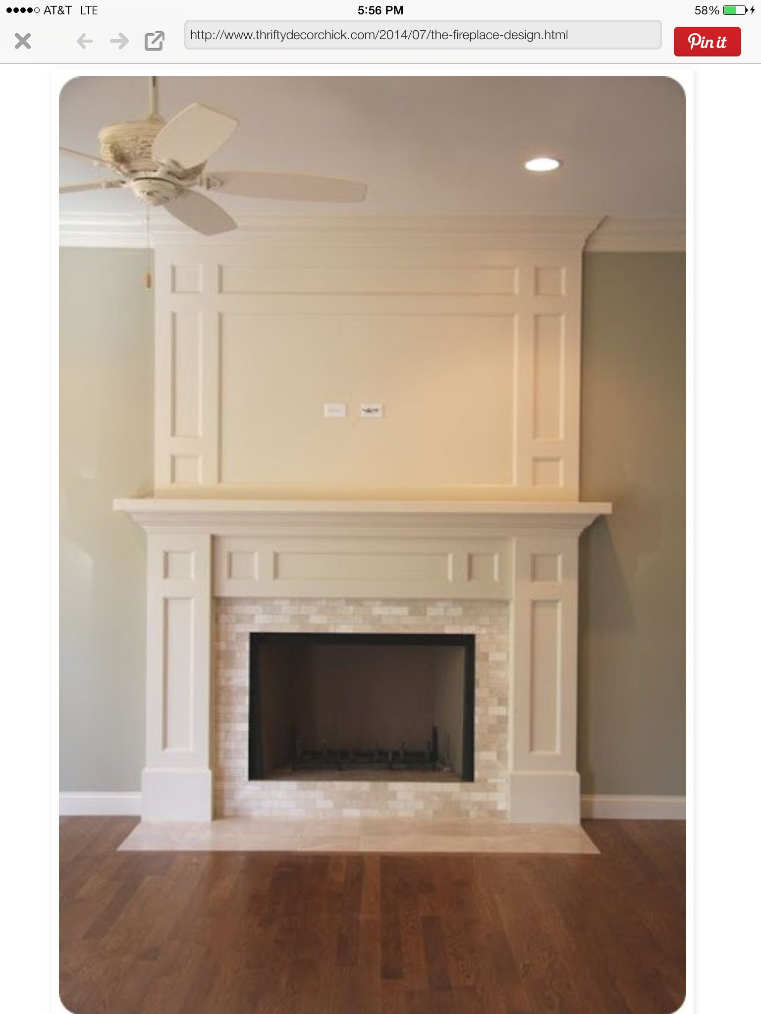 Mill Work Decorating Ideas Craftsman Fireplace Home Decor