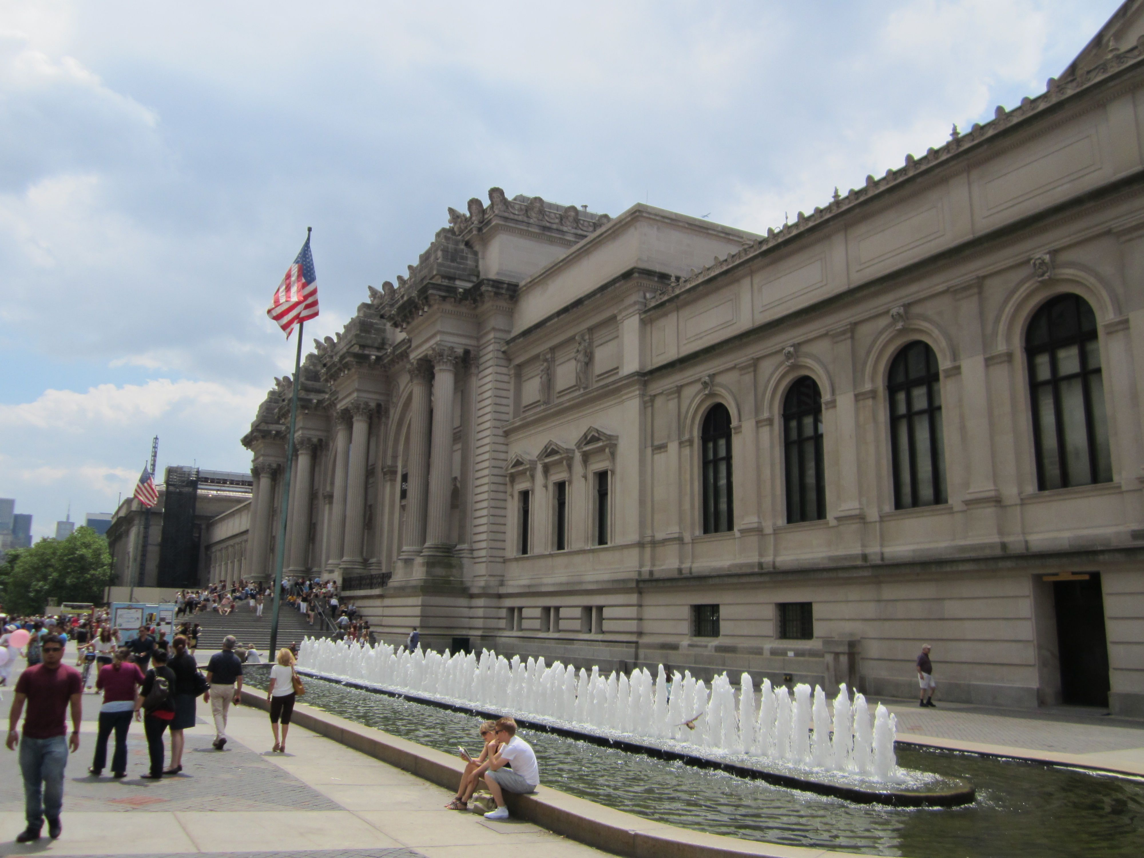 Facade Of Metropolitan Museum Art York City Places