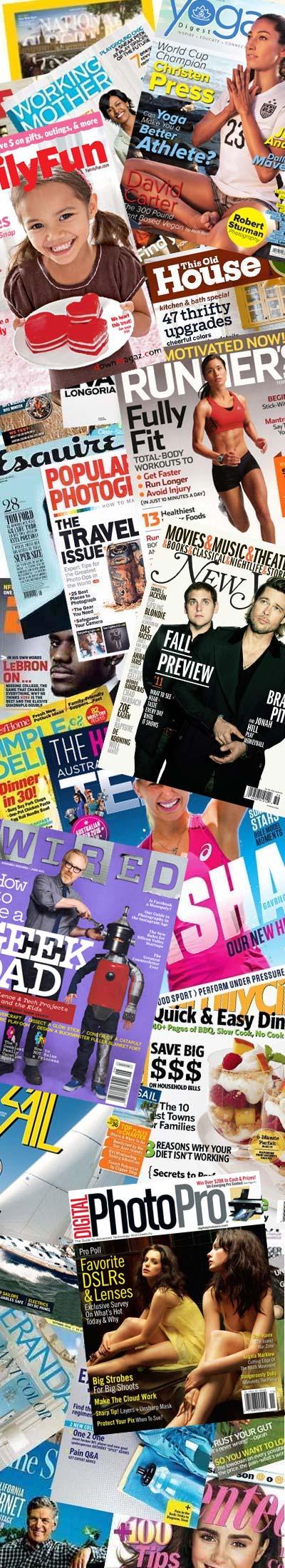 34 FREE Magazines Today Flying, Redbook, Runner's World